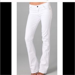 CoH Amber Stretch High Rise Bootcut white jeans
